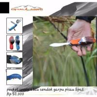 Dh pocket spion 701 atau sendok garpu pisau dhaulagiri untuk camping
