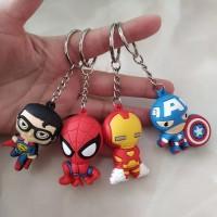 KEYCHAIN Cartoon Avengers Batman spider-man mixed 3D promo tokopedia