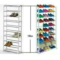 Rak Sepatu Amazing Shoes Rack 10 Tingkat Rak Sepatu Rak Susun murah