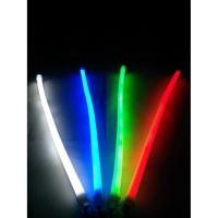 Lampu Alis LED Flexible DRL 30CM Neon Motor Mobil 2 Warna Sein Sen DC