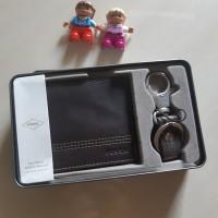 Dompet Pria Kulit Asli Fossil Kyle Gift Set RFID Brown SML1566200