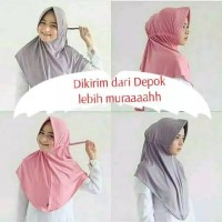 Hijab Khimar SERUT JOKOWI Adiba Bahan Likra Halus