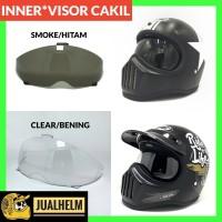 Kaca Inner Visor Smoke Helm Cakil / Kaca Helm Cakil