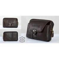 sarung hp pinggang rebah datar / tas dompet hp kulit 6 6.5 inch import