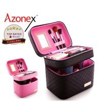 Tas Make Up Pouch Kotak Kosmetik Beauty Case Kosmetik 2 Layer