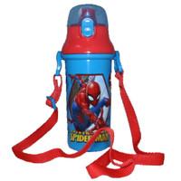 Botol Minum Anak Sekolah Karakter Spiderman - Biru