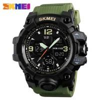 Jam Tangan Pria / SKMEI AD 1155B LED Dual Digital / GREEN