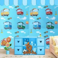 Termurah Grosir Wallpaper Sticker Dinding Motif Mobil Bus Tayo
