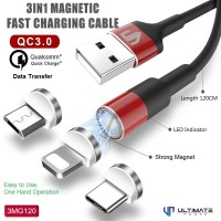 Ultimate Power 3in1 Magnetic USB Kabel Data Fast Charging 3MG120