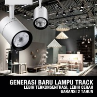 LAMPU RELL TRACK LED SOROT LAMPU REL TRACKLIGHT SPOTLIGHT SPOT 15W/30W - Natural White, 15W-Black Cover