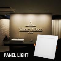 LAMPU LED PANEL LIGHT DOWNLIGHT PUTIH INBOW KOTAK 6W/12W/18W/24W - Cold White, 12W-White Cover