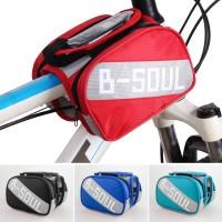 Mountain bike Bicycle Frame Bag Tube Touchscreen Bike Phone Holder Bag