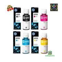 Tinta HP GT51 Black GT52 Color ( GT51 & GT52) 1 SET 4 Warna