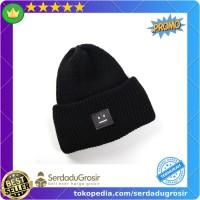 Promo URGENTMAN Topi Kupluk Wol Smiley Face Beanie Hat - NM-DS01