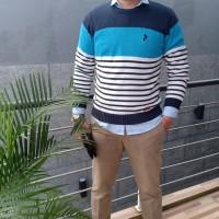 Sweater Rajut Pria TuanMuda O neck1 Lengan Panjang Fashion Casual Pria