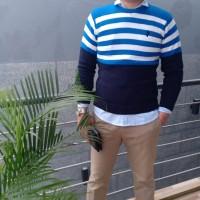 Sweater Rajut Pria TuanMuda O neck Lengan Panjang Fashion Casual Pria