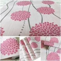 Wallpaper Sticker Dinding Bunga dandelion pink 10 M