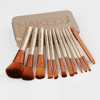 Naked 3 Set Isi 12Pcs - Makeup Brush Naked 3 Urban Decay Unit Baik