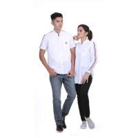 Baju Couple pria Wanita Dewasa / Kemeja Pasangan Couple Putih Gafash