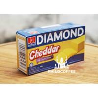Keju Cheddar Diamond 180gr (Cheese Processed Cheddar)