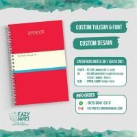 Custom Notebook A6 satuan