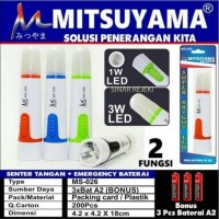 Senter tangan MITSUYAMA LED FLASHLIGHT MS-026 super bright LED