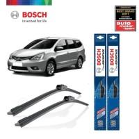 Wiper Mobil Frameless Nissan Livina Sepasang Bosch Clear Advantage