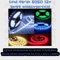 Lampu Led Strip Mata Besar Waterproof (gel) IP44 5050 12V per Roll 5 m