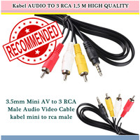Kabel AUDIO TO 3 RCA HIGH QUALITY
