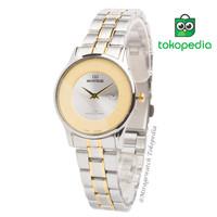 Terbaru Jam Tangan Mirage Wanita Original Kombinasi Silver Gold 8670L