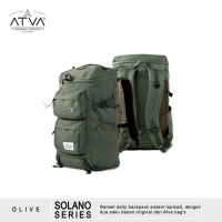 Tas Ransel Backpack Rucsack Laptop 14 Pria Wanita - ATVA Solano Olive