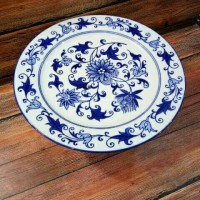 Piring / Wadah Saji Keramik Bulat utk Kue / Buah / Tart / Roti, 28cm