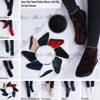 Perlengkapan Umroh dan Haji Kaos Kaki Tawaf Tinggi Sepatu Tawaf Tingg - Embos Hitam