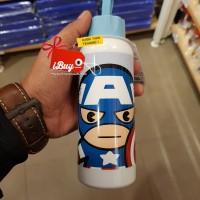 Miniso Captain America Cute Botol Minum Blue
