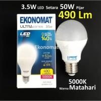 Lampu LED Ekonomat ULTRA 490 Lm 3,5 Watt Warna Matahari 5000K Bohlam