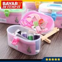 Set Alat Jahit Kotak Box Benang Jarum Peniti Gunting Meteran - WN103