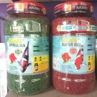 Paket Makanan Ikan Koki Koi Akari Super Red + Spirulina Pellet 1250Gr