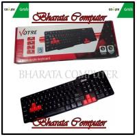 Keyboard USB Votre KB2308 - Hitam