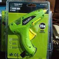 glue gun / lem tembak 1 set listrik 20 watt - Hijau TEKIRO