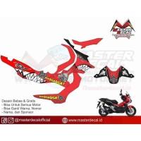 Stiker Motor Honda ADV Shark Grade B