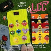 Kaos LCC elmo and Friends All Size