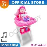 Mainan Anak Perempuan Boneka Baby Bayi dan Kursi Baby Chair - W0191