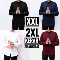 Kemeja Lengan Panjang Pria Polos Big Size Jumbo Size XXL Slimfit