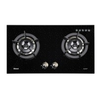 Kompor Gas Tanam Rinnai RB 2 GH C (SB) 2 Tungku Glass Sparkling Black