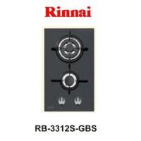 Kompor Gas Tanam Rinnai RB 3312 S (GBS) 2 Tungku Hitam Glass