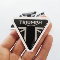 Stiker Motor/ Mobil Stiker Helm Timbul Aksesoris Helm TRIUMPH