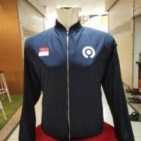 jaket bomber gojek logo baru keren berkualitas waterprof taslan