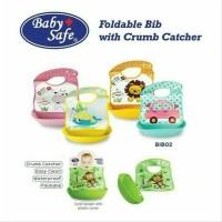 Baby Safe Foldable Bib with Crumb Catcher - Celemek - Slaber Plastik
