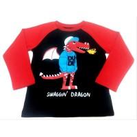 Atasan Kaos Anak Dragon Lengan Panjang