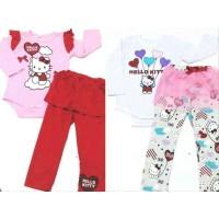 Setelan Jumper Panjang Hello Kitty